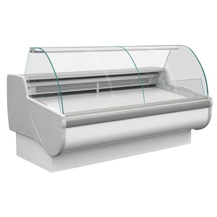 Tobi 250 Meat Curved Glass Serve Over Counter